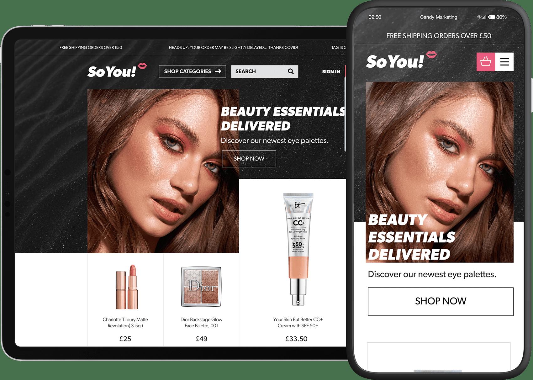 So You Website ScreenShot- Candy Marketing