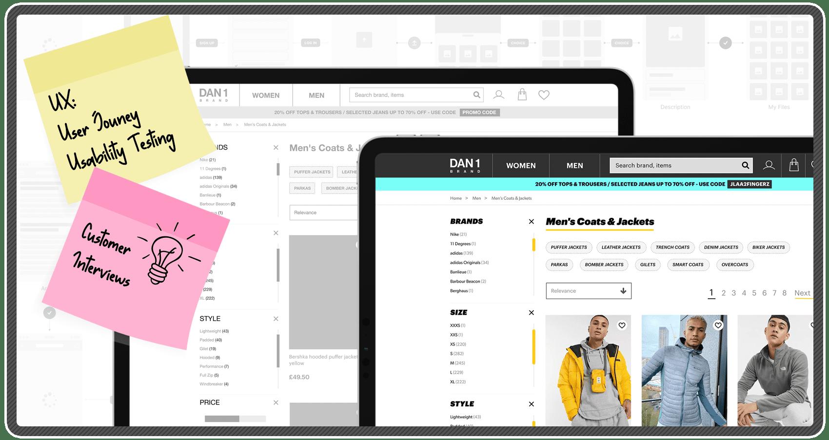 UX Header Design - Candy Marketing